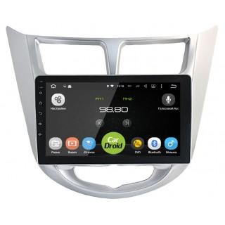 Штатная магнитола CarDroid RD-2003F для Hyundai Solaris (Android 8.0) DSP