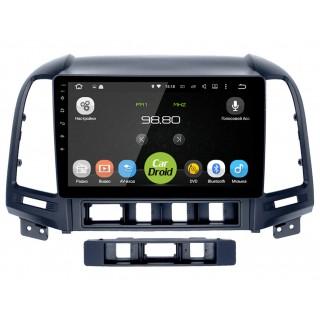 Штатная магнитола CarDroid RD-2008F для Hyundai SantaFe 2 (Android 9.0) DSP