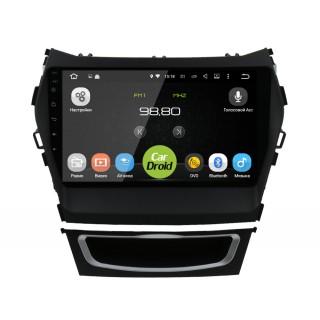 Штатная магнитола CarDroid RD-2019F для Hyundai SantaFe 3 / ix45 (Android 9.0) DSP