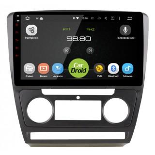 Штатная магнитола CarDroid RD-3202FB для Skoda Octavia A5 (Android 9.0) DSP