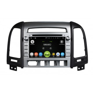 Штатная магнитола CarDroid RD-2001 для Hyundai SantaFe 2 (Android 8.0) (4 кнопки)
