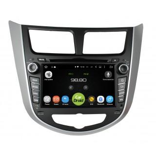 Штатная магнитола CarDroid RD-2003D для Hyundai Solaris (Android 9.0) DSP