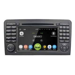 Штатная магнитола CarDroid RD-2504D для Mercedes Benz ML W164 GL X164 (Android 8.0) DSP