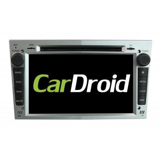Штатная магнитола CarDroid RD-2801DS для Opel Astra, Vectra, Corsa 2004-2011 (Android 9.0) Серебро