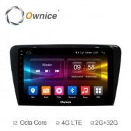 Штатная магнитола Ownice C500+ S1916P для Skoda Octavia A7 (Android 6.0)