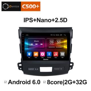 Штатная магнитола Ownice C500+ S9636P для Mitsubishi Outlander XL (Android 6.0)