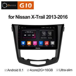 Штатная магнитола Ownice G10 S1668E для Nissan Qashiqai 2, X-trail 3 auto AC (Android 8.1)