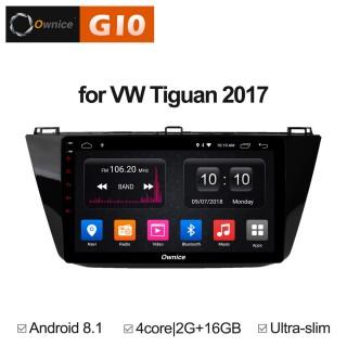 Штатная магнитола Ownice G10 S1913E для Volkswagen Tiguan 2017 (Android 8.1)