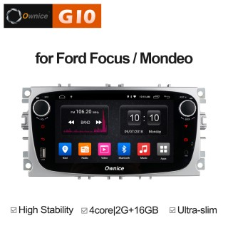 Штатная магнитола Ownice G10 S7282E-S для Ford Focus 2, Mondeo (Android 8.1) Серебро