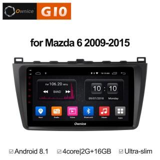 Штатная магнитола Ownice G10 S9506E для Mazda Mazda 6, 2009 (Android 8.1)