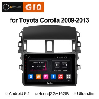 Штатная магнитола Ownice G10 S9605E для Toyota Corolla E150 (Android 8.1)
