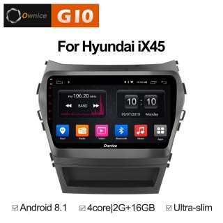 Штатная магнитола Ownice G10 S9703E для Hyundai SantaFe 3 (Android 8.1)