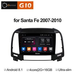 Штатная магнитола Ownice G10 S9717E для Hyundai SantaFe 2 (Android 8.1)