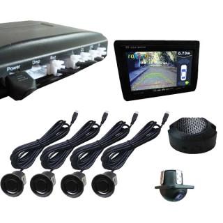Парковочный радар с камерой в комплекте (Видеопарктроник) RPV-001+