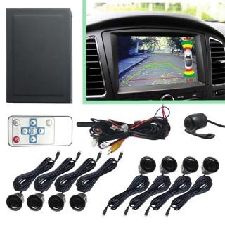 Парковочный радар с входом для камеры (Видеопарктроник) перед/зад 8 датчиков + камера в подарок
