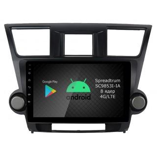 Штатная магнитола Roximo RI-1122 для Toyota Highlander 2, 2007-2014 (Android 9.0)