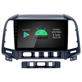 Штатная магнитола Roximo RI-2008 для Hyundai SantaFe 2, 2006-2012 (Android 9.0)