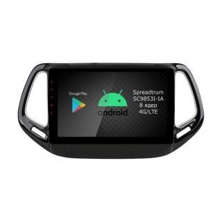 Штатная магнитола Roximo RI-2204 для Jeep Compas, 2017- (Android 9.0)