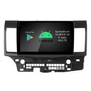 Штатная магнитола Roximo RI-2612 для Mitsubishi Lancer X (Android 9.0)