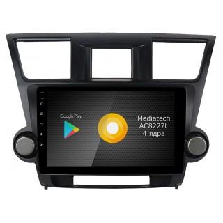 Штатная магнитола Roximo S10 RS-1122 для Toyota Highlander 2 2007 – 2013 (Android 9.0)