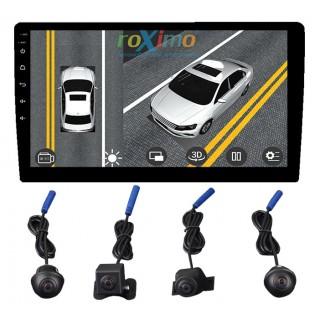 Комплект AHD камер 4шт. 360-3D для Roximo серии 4G
