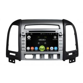 Штатная магнитола CarDroid RD-2001D для Hyundai SantaFe 2 (Android 9.0) (4 кнопки) DSP