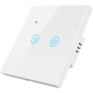 Умный выключатель ROXIMO сенсорный, двухкнопочный