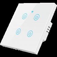 Умный выключатель ROXIMO сенсорный, четырехкнопочный
